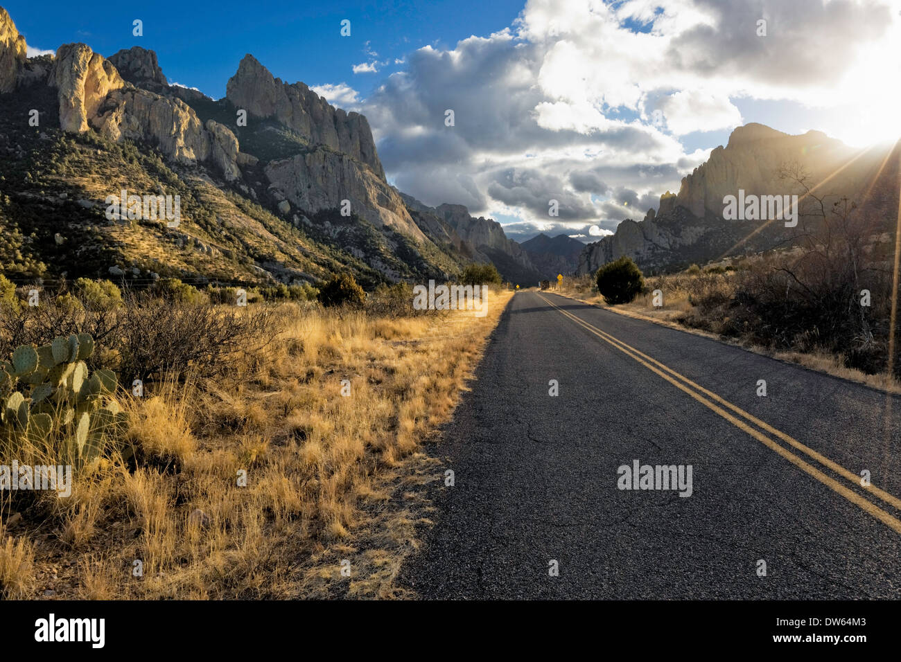 Scenic Arizona Back Roads - Stock Image