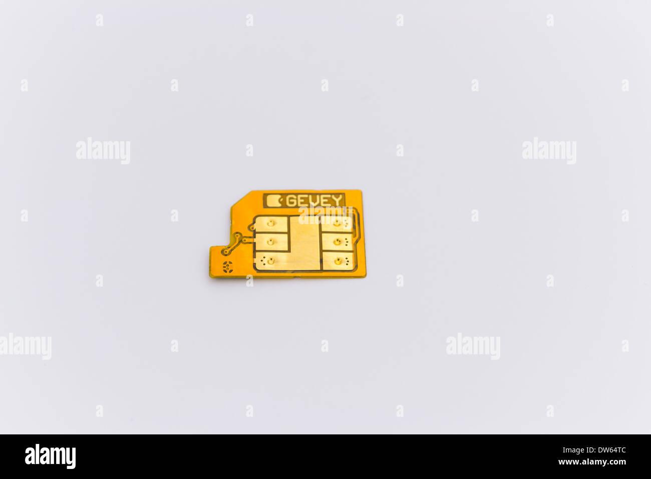 Gevey Ultra S unlock solution for iPhone smartphones - Stock Image