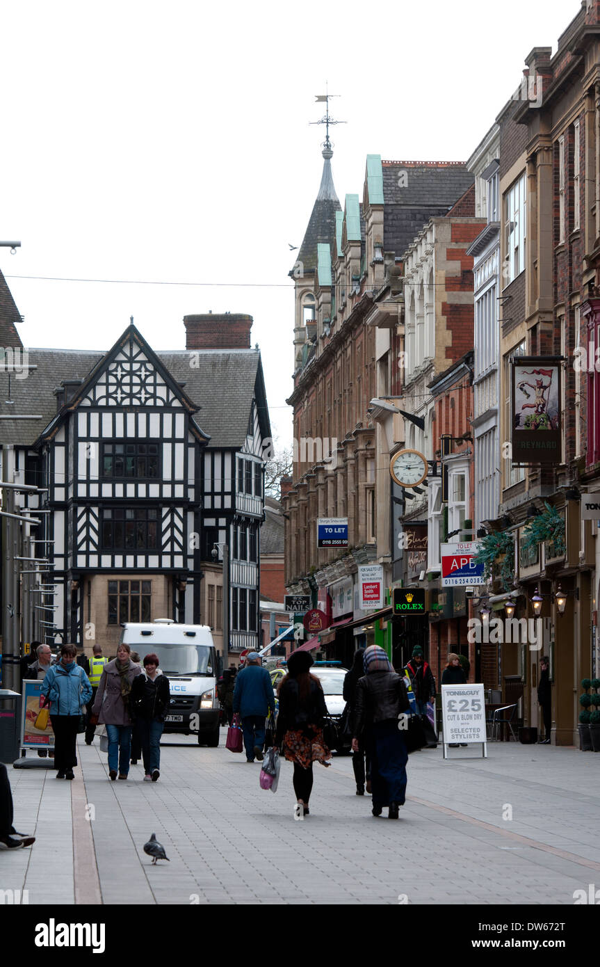 Market Street, Leicester, Leicestershire, England, UK - Stock Image