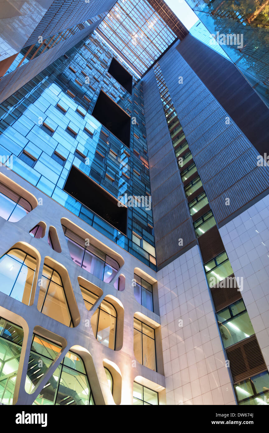 Modern architectural detail of an office building in Seoul, South Korea. - Stock Image