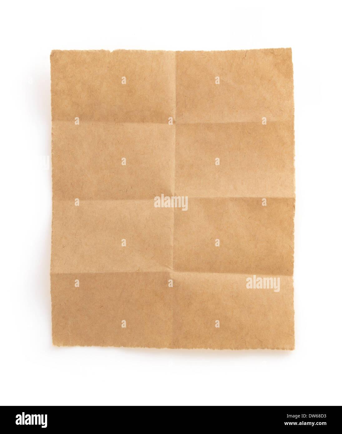folded note paper isolated on white background stock photo 67135855
