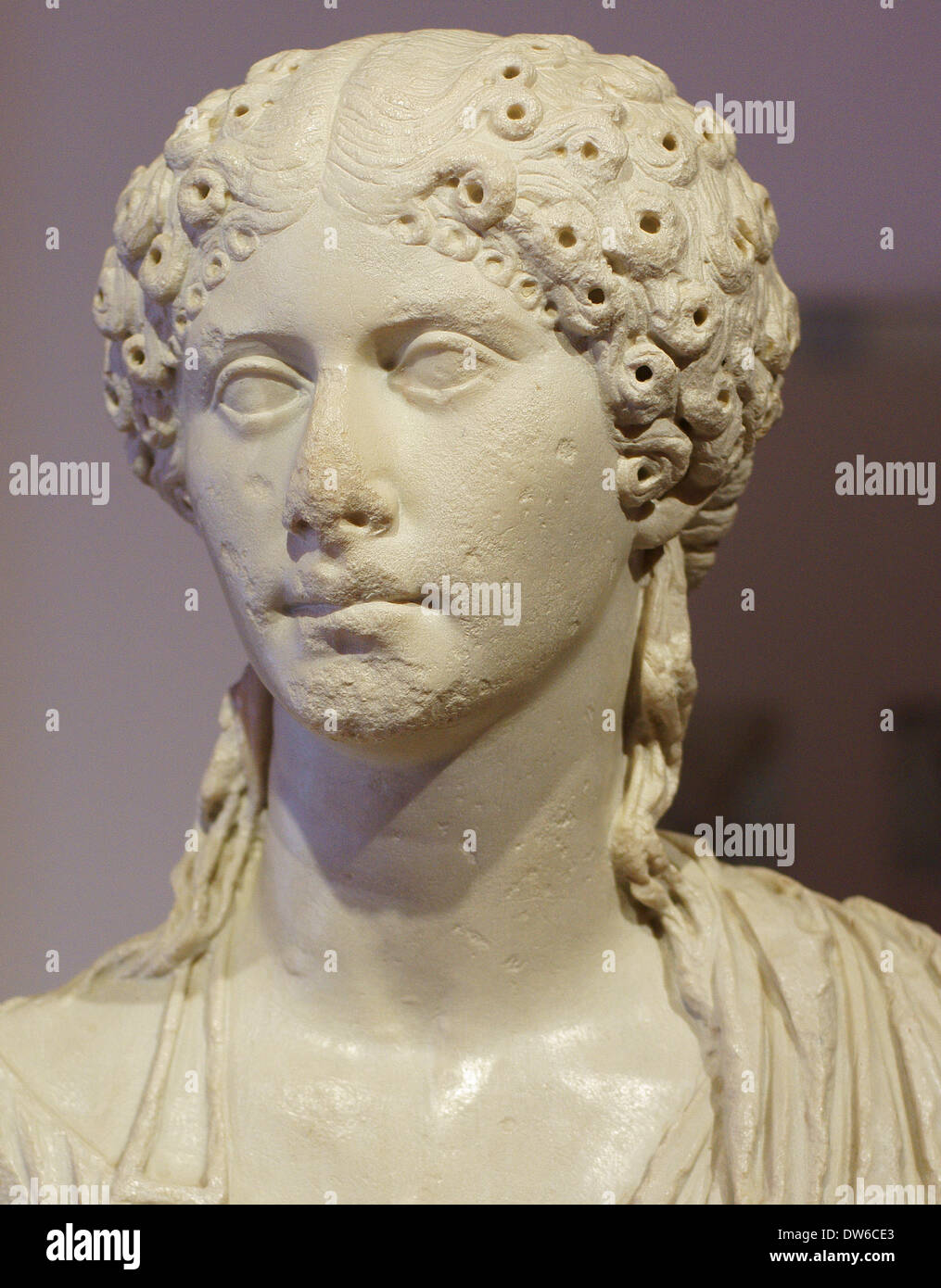 Agrippina minor younger mother of emperor Nero - Stock Image