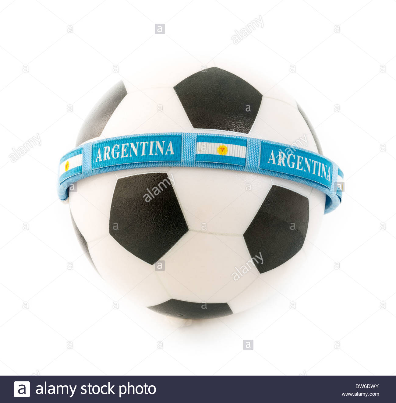 Concept of the major role played by Argentina in the International Soccer Arena - Stock Image