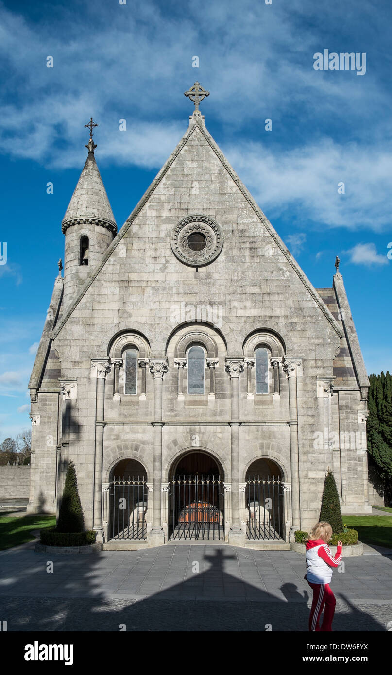 The chapel in the grounds of Prospect Cemetery, Glasnevin, Dublin ,Ireland - Stock Image