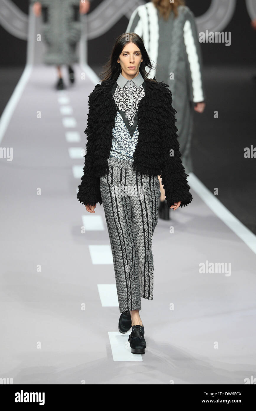 A Model Wears A Creation By Dutch Designers Viktor Horsting And Rolf Stock Photo Alamy