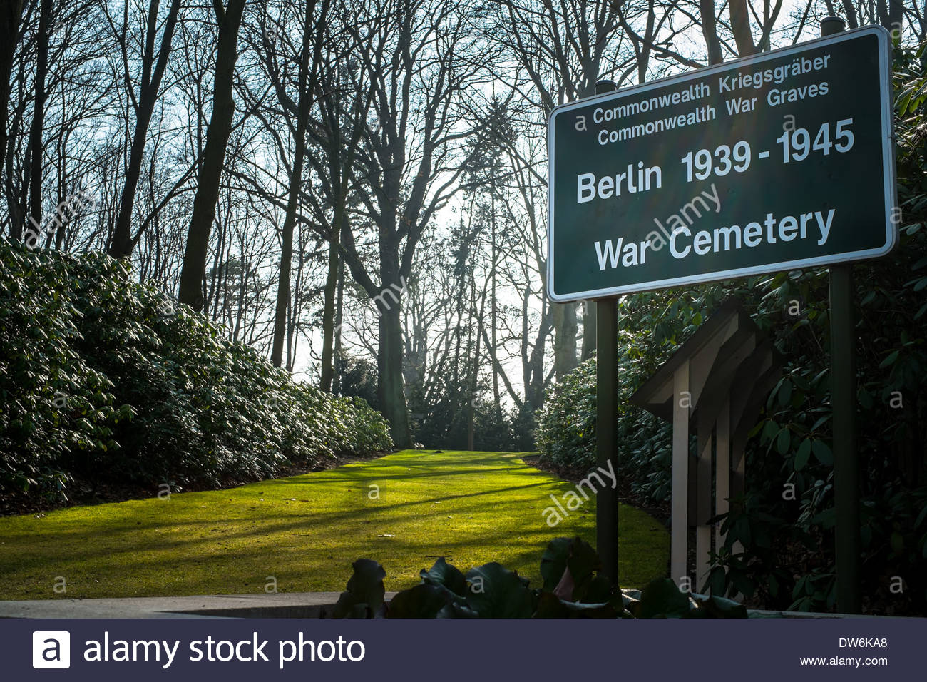 Berlin, Germany 1939 -1945 Commonwealth War Graves Commission Cemetery - Royal Air Force soldier - Stock Image