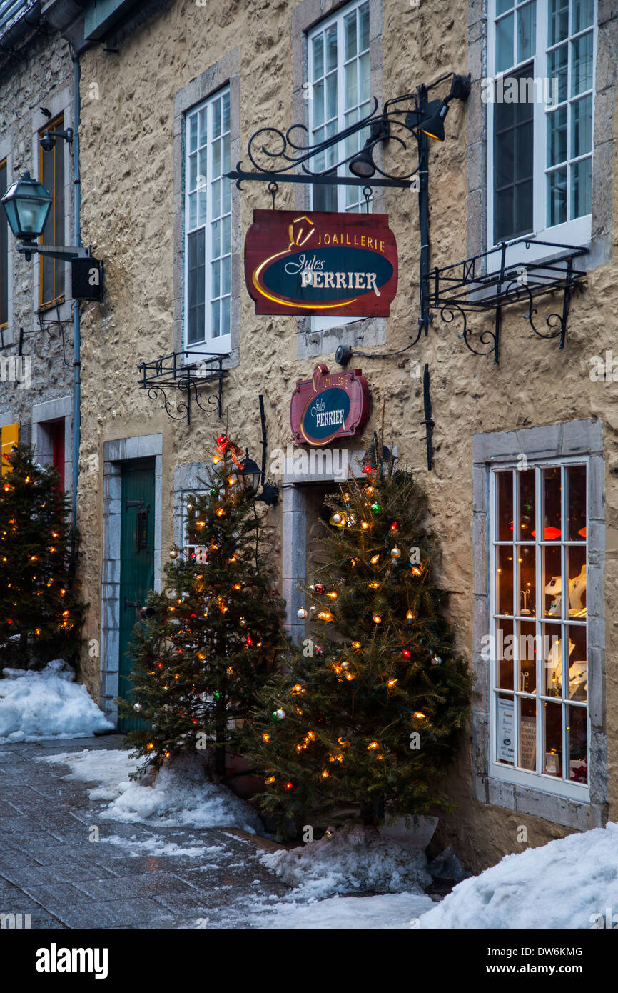 Jewelry Store On The Rue Petit Champlain In Old Town