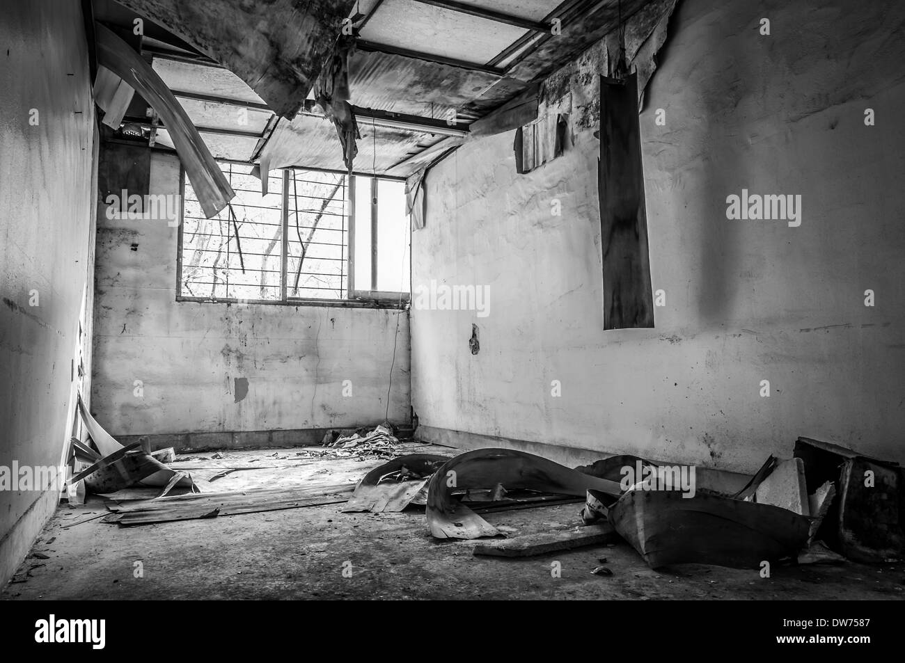 Gonjiam psychiatric hospital in South Korea. The hospital was abandoned nearly twenty years ago. - Stock Image