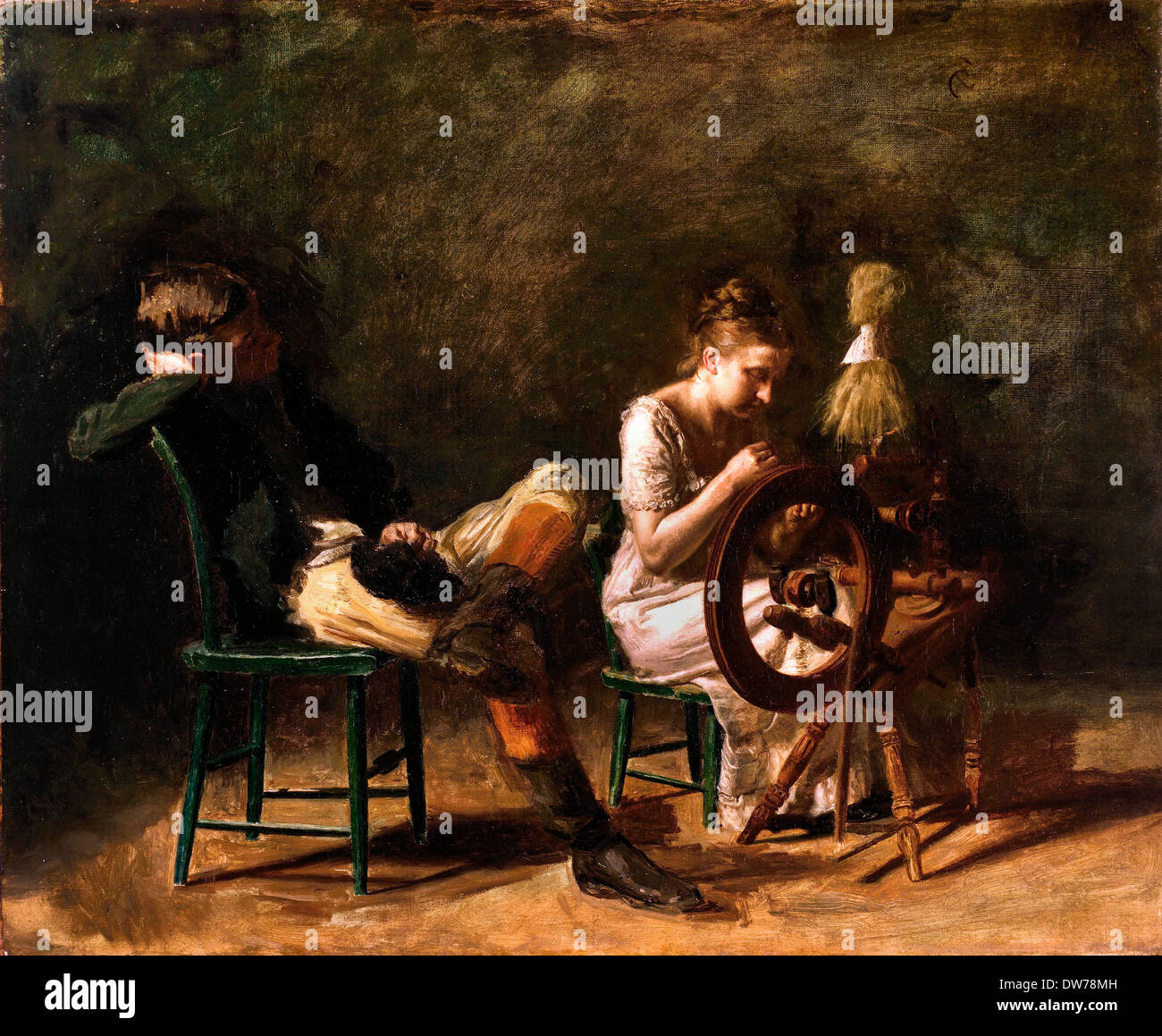 Thomas Eakins, The Courtship. Circa 1878. Oil on canvas. Fine Arts Museums of San Francisco, USA. - Stock Image