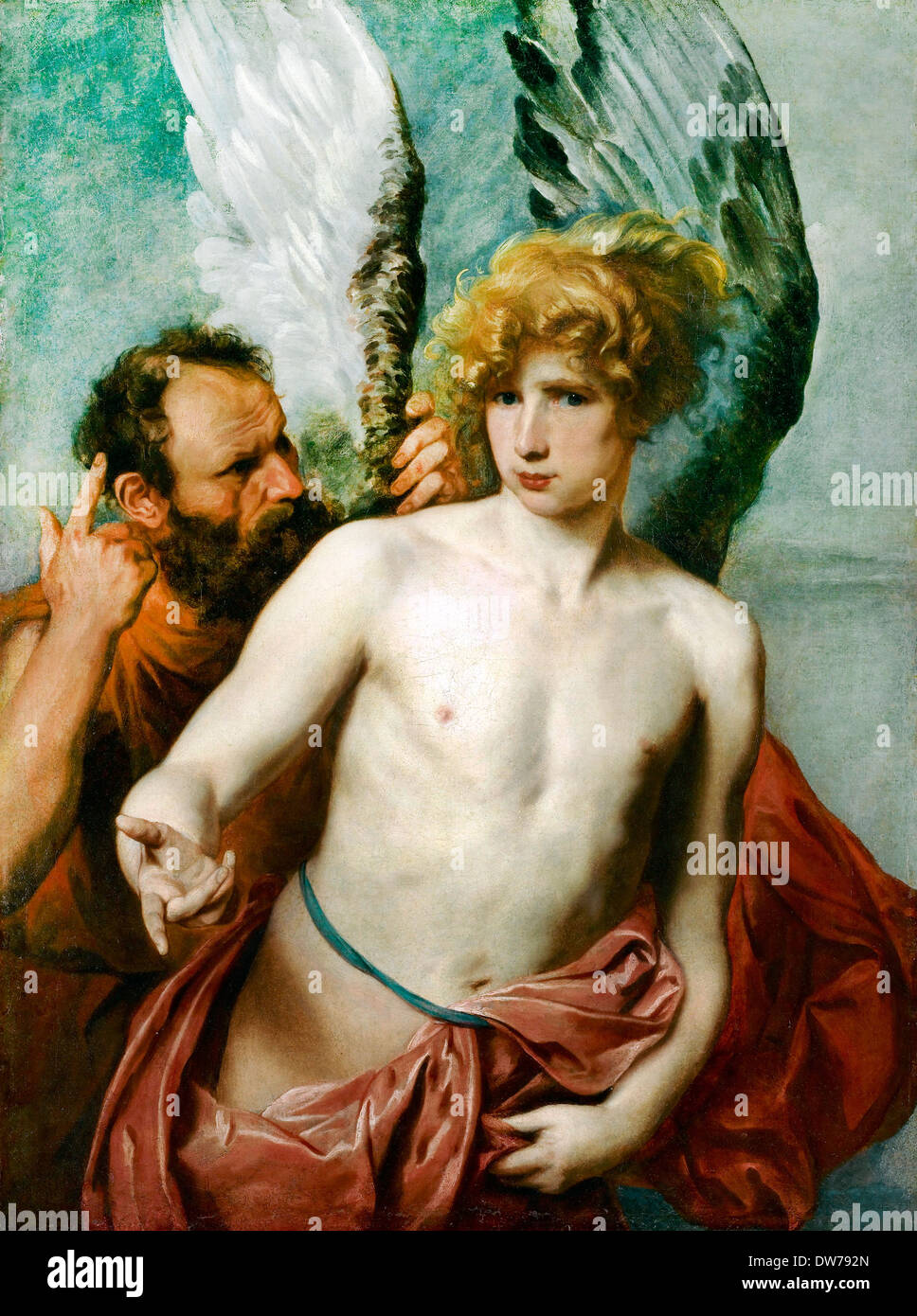 Anthony van Dyck, Daedalus and Icarus 1615-1625 Oil on canvas. Art Gallery of Ontario, Toronto, Canada. - Stock Image