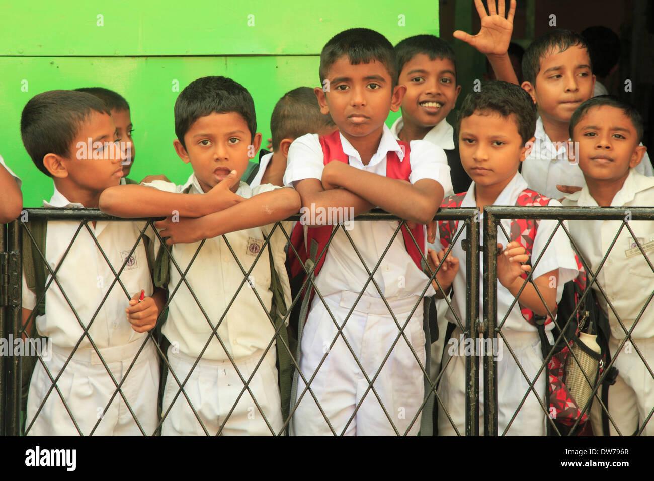 Sri Lanka, Galle, schoolboys, - Stock Image