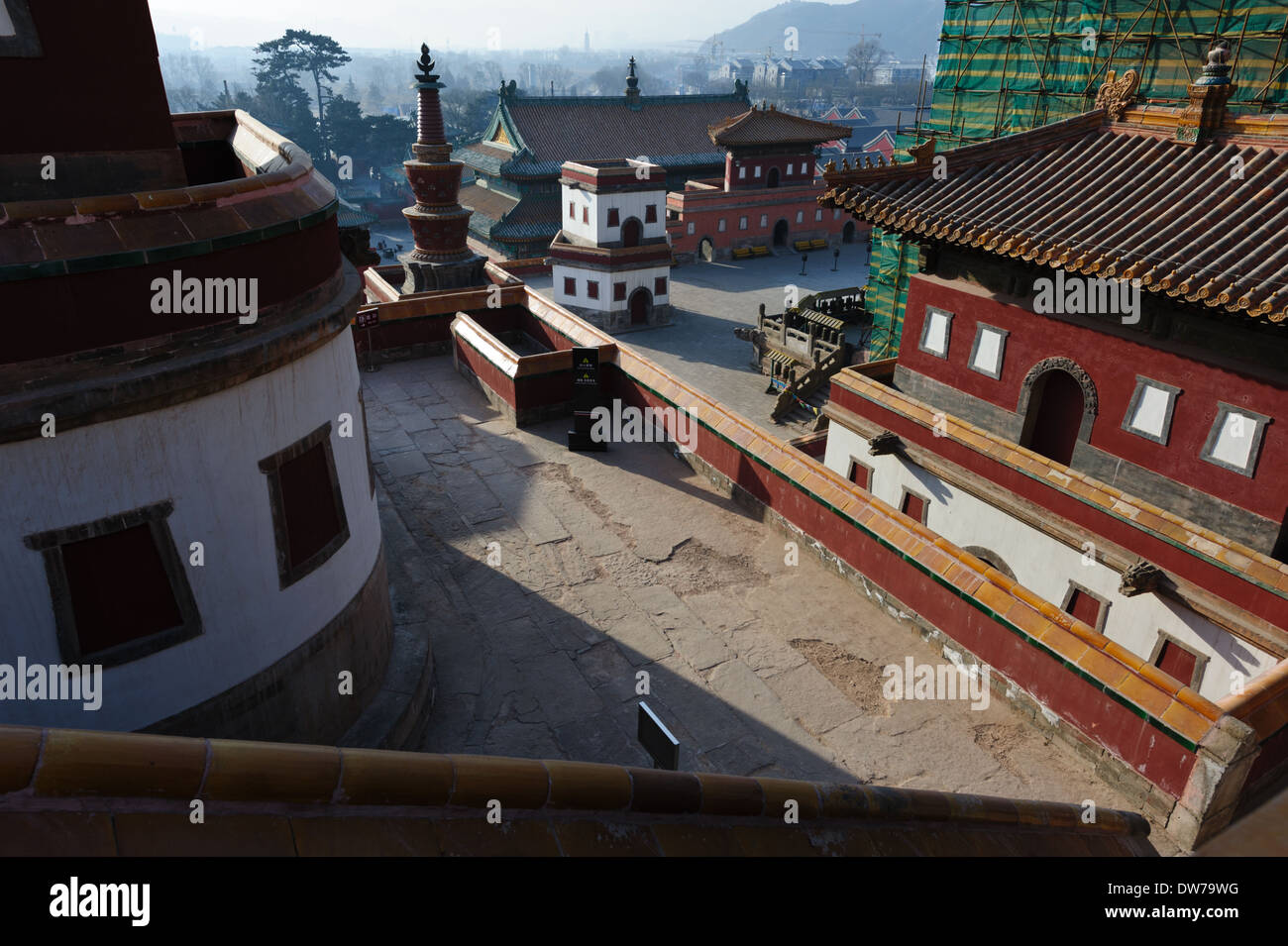 The Puning Temple complex. Chengde, Hebei Province, China. - Stock Image