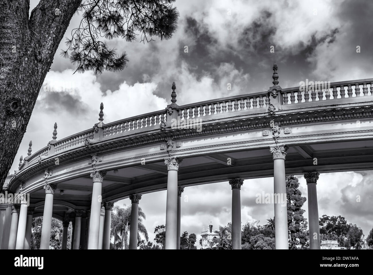 Spreckels Organ Pavilion. Balboa Park, San Diego, California, United States. - Stock Image