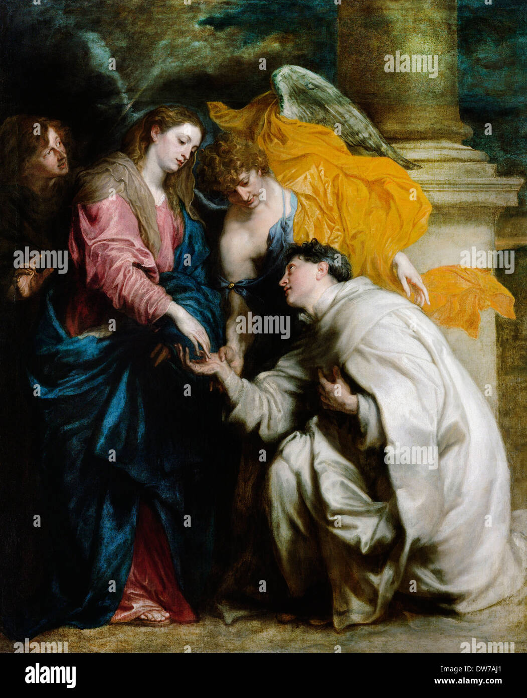 Anthony van Dyck, The Vision of the Blessed Hermann Joseph 1629-1630 Oil on canvas. Kunsthistorisches Museum, Vienna, - Stock Image