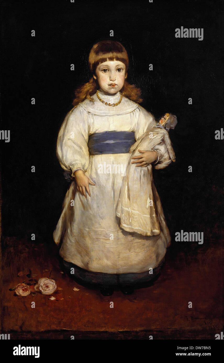 Frank Duveneck, Mary Cabot Wheelwright 1882 Oil on canvas. Brooklyn Museum, New York City, USA. - Stock Image