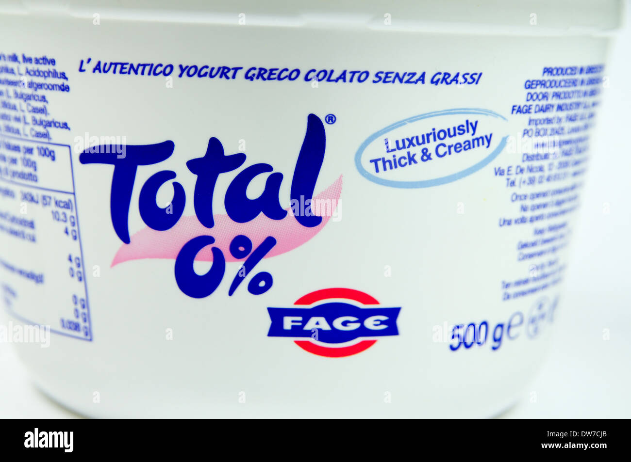 Total Greek Yogurt pot - Stock Image