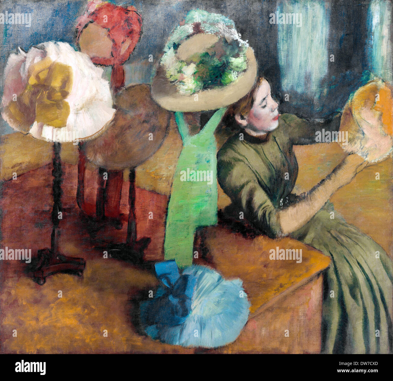 Edgar Degas, The Millinery Shop 1879-1886 Oil on canvas. Art Institute of Chicago, Chicago, USA. - Stock Image