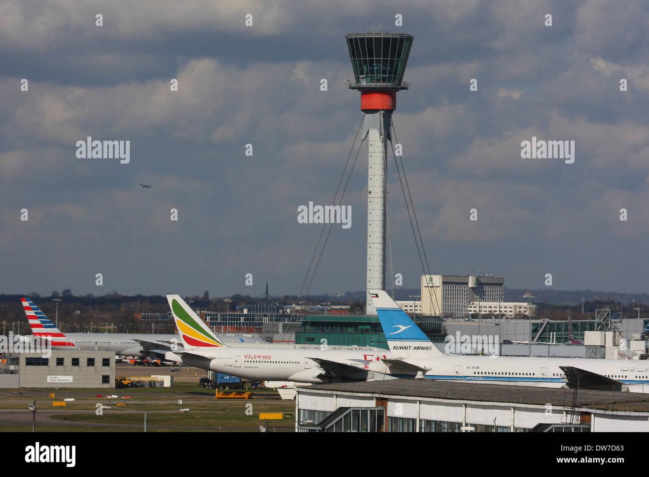 HEATHROW AIRPORT LONDON LHR - Stock Image
