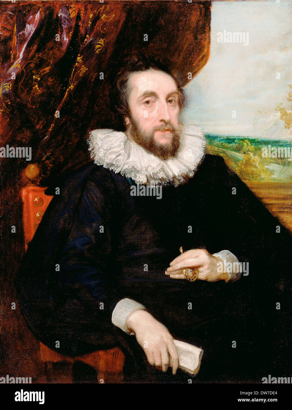 Anthony van Dyck, Thomas Howard, 21st Earl of Arundel 1620-1621 Oil on canvas. J. Paul Getty Museum, Los Angeles. - Stock Image