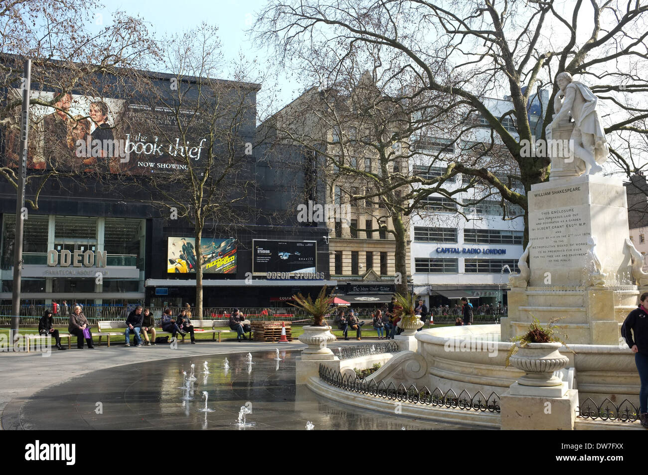 leicester square and park west end of london uk 2014 - Stock Image