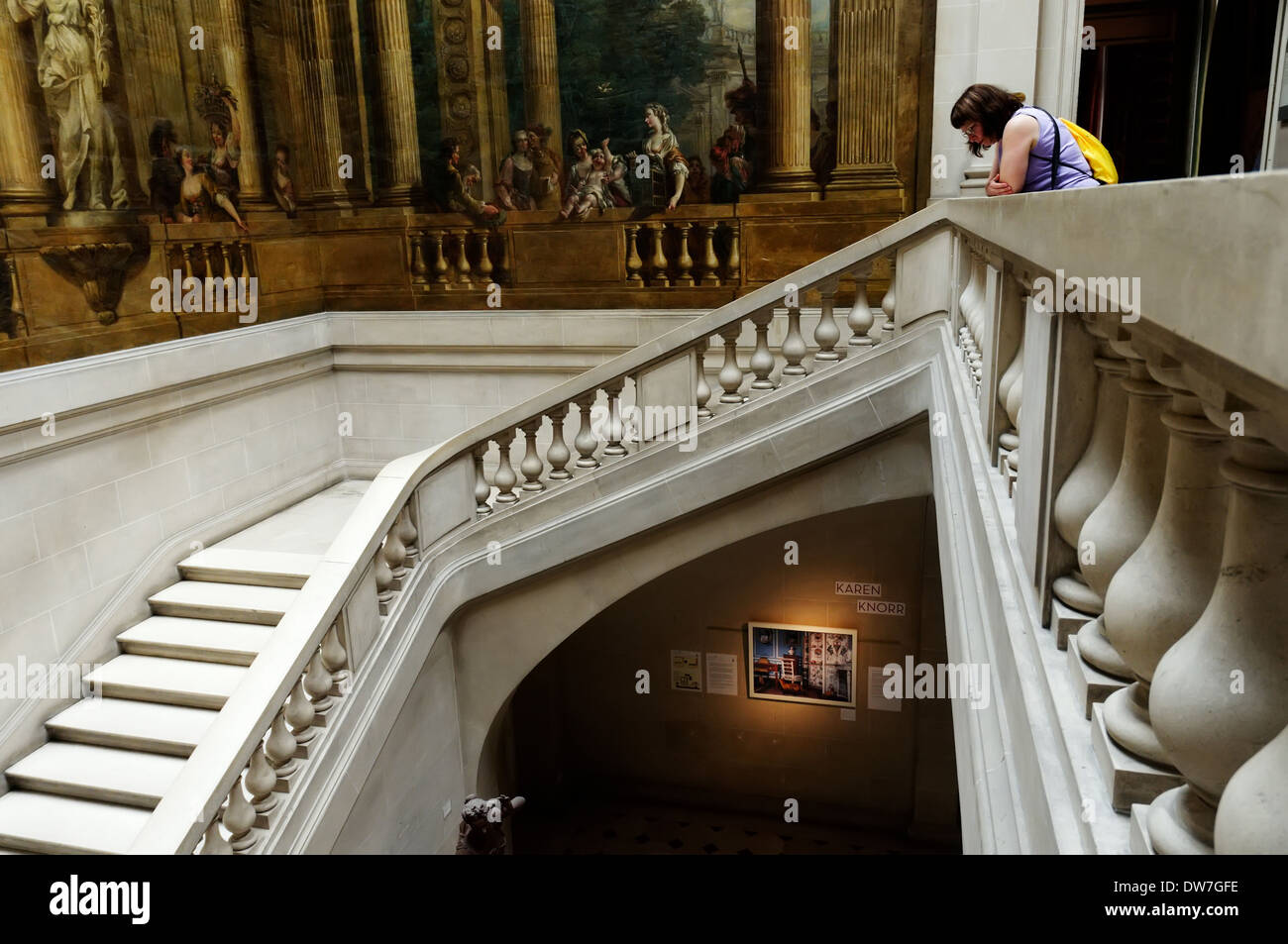 Inside the Musee Carnavalet, in the Marais area of Paris - Stock Image