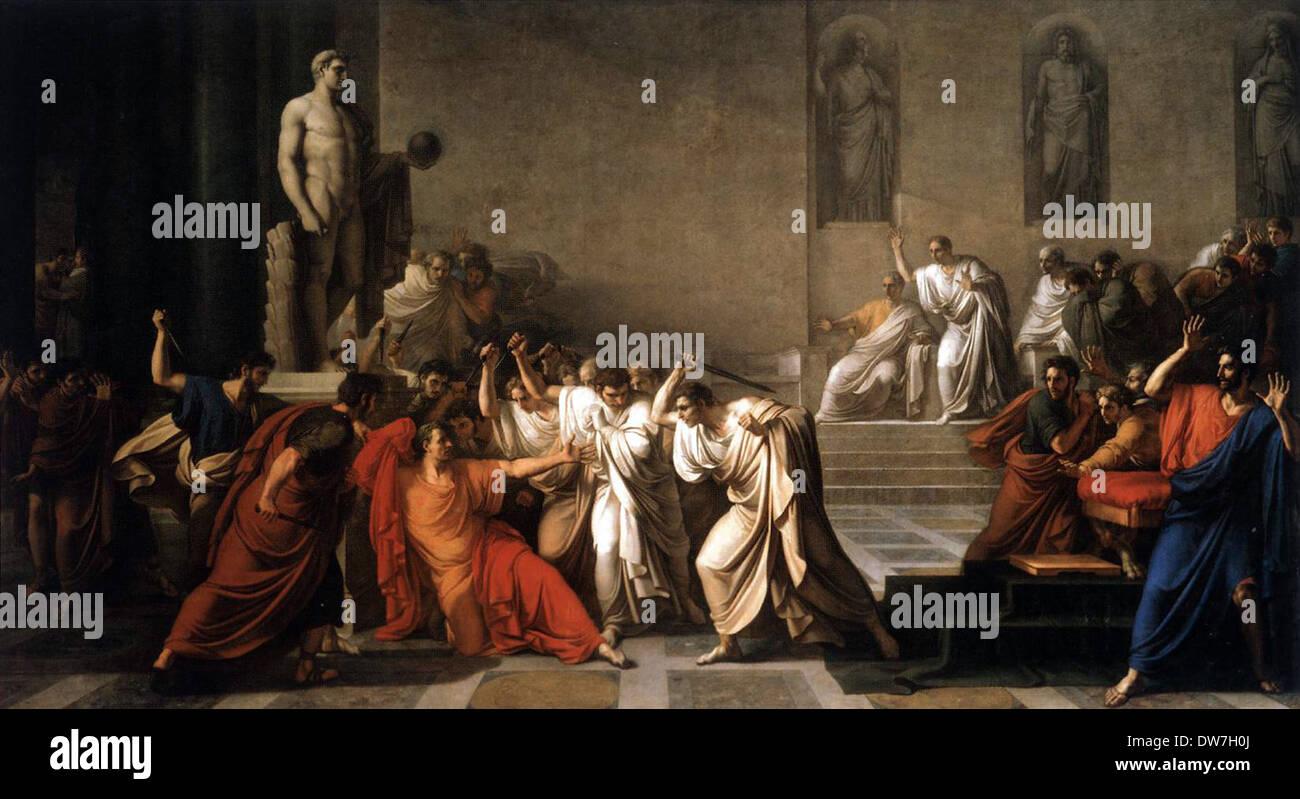 Death of Julius Caesar, Morte di Giulio Cesare, assassination of Julius Caesar - Stock Image