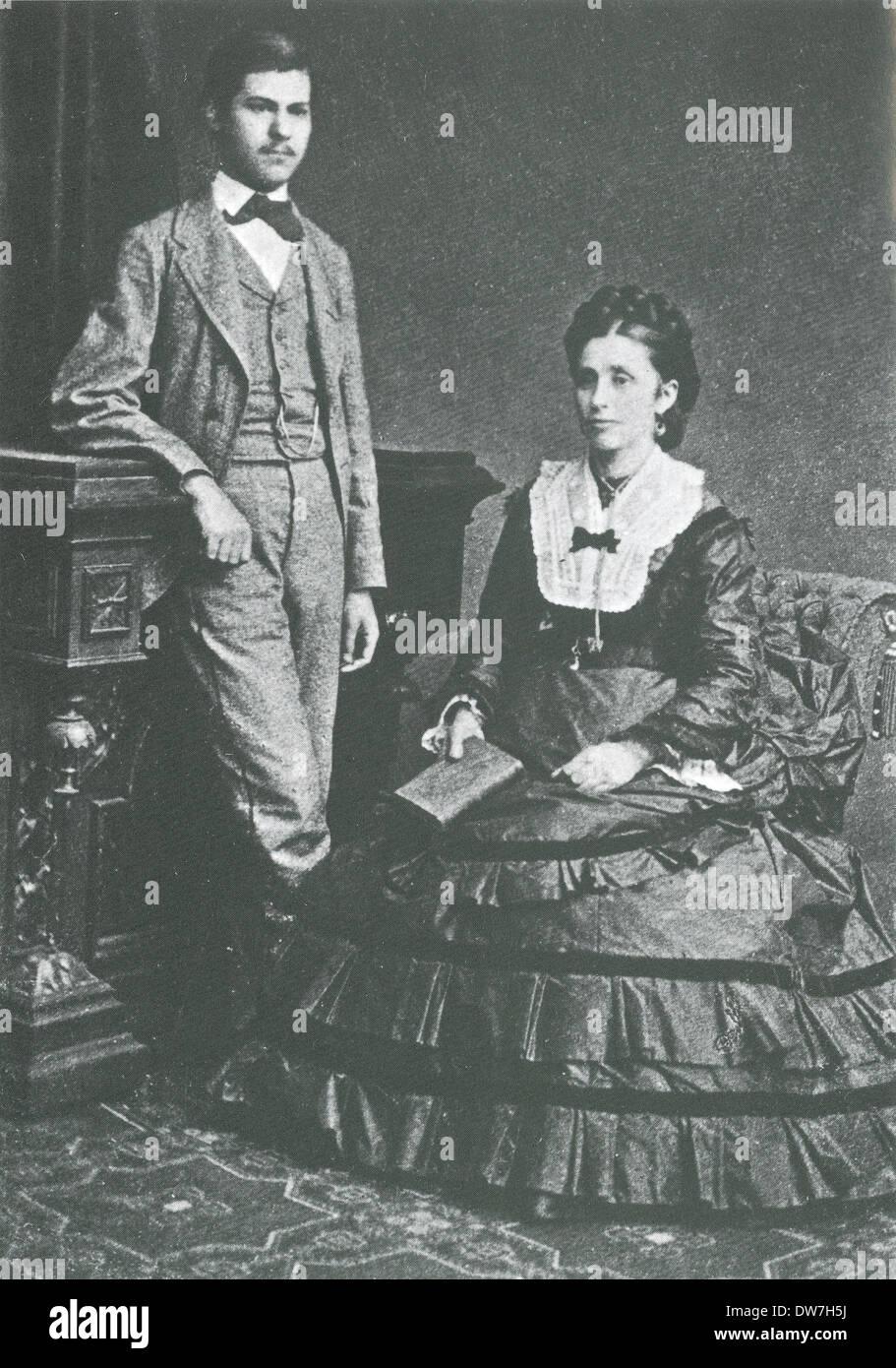 Sigmund Freud and his mother, Amalia Stock Photo