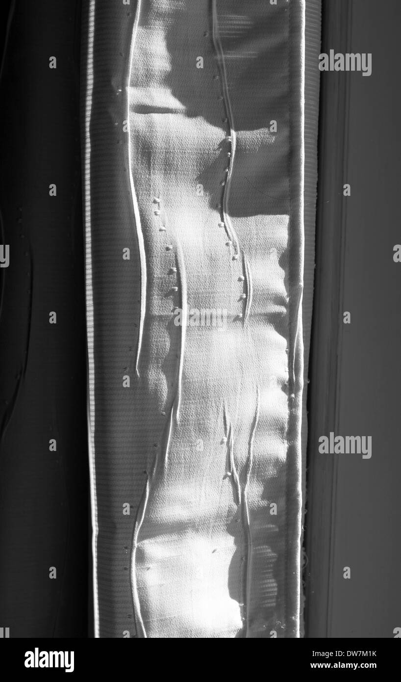 Home curtains in black and white - Stock Image