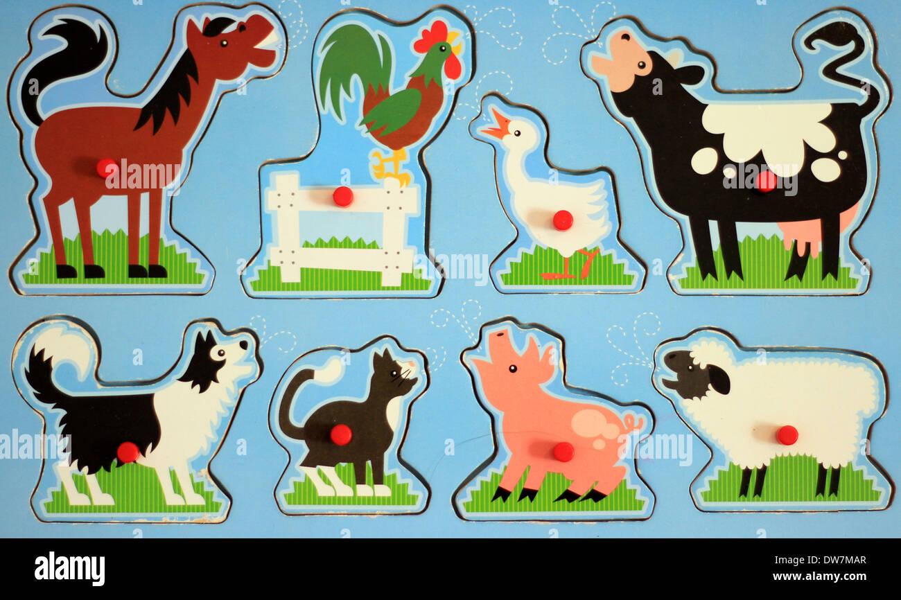 Farm Animals Sound Kids Toy Stock Photo 67167151 Alamy