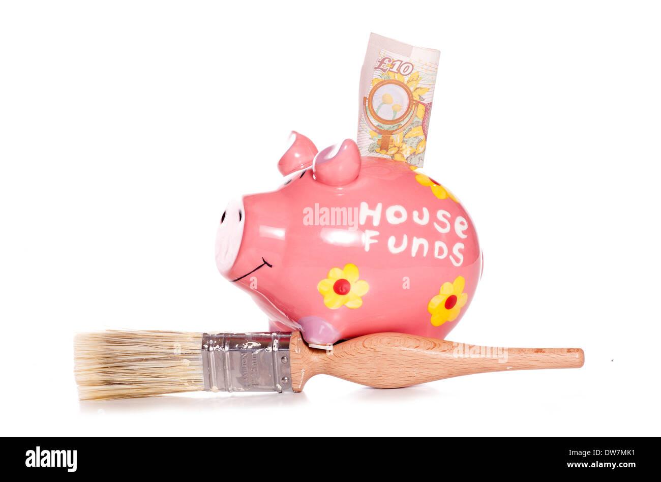 DIY house funds studio cutout - Stock Image