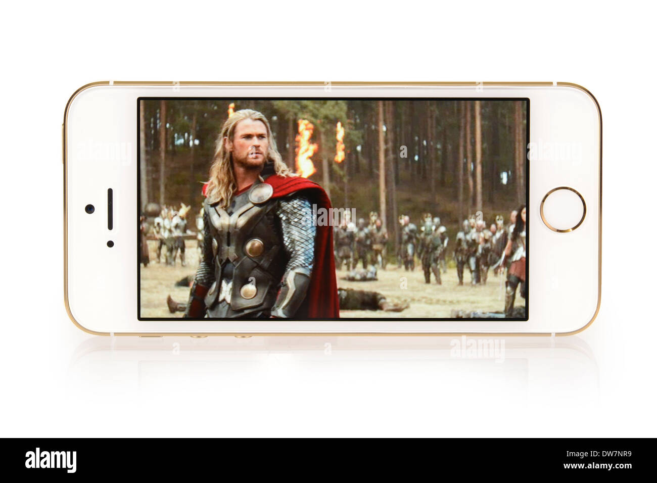 iTunes Movies, Movie Thor on iPhone 5S, 5 S - Stock Image