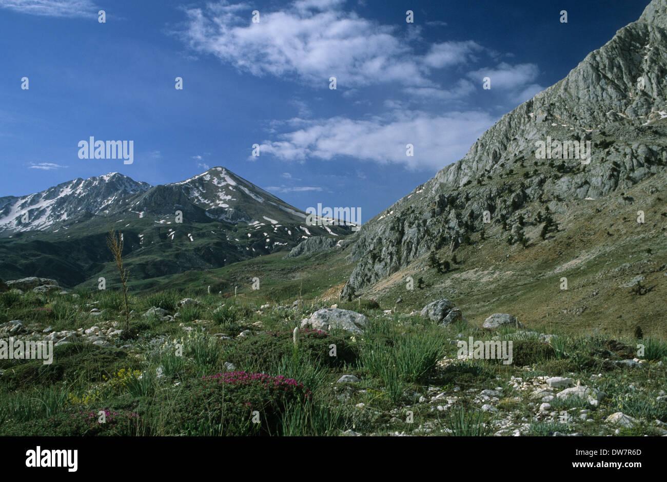 turkey anatolia saklikent alpine scenery near saklikent ski resort