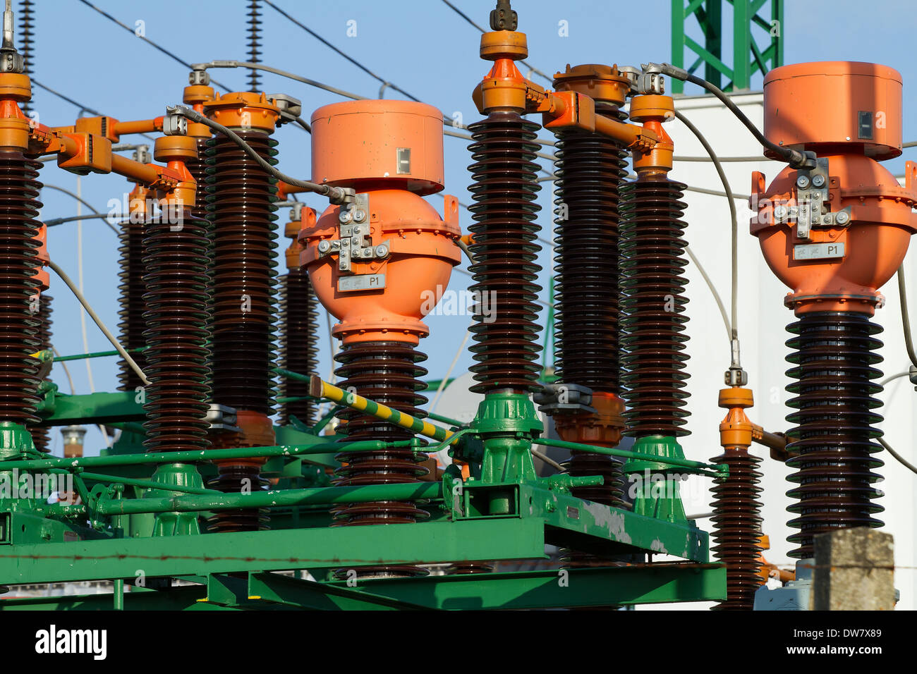 High power station for Industry - Stock Image