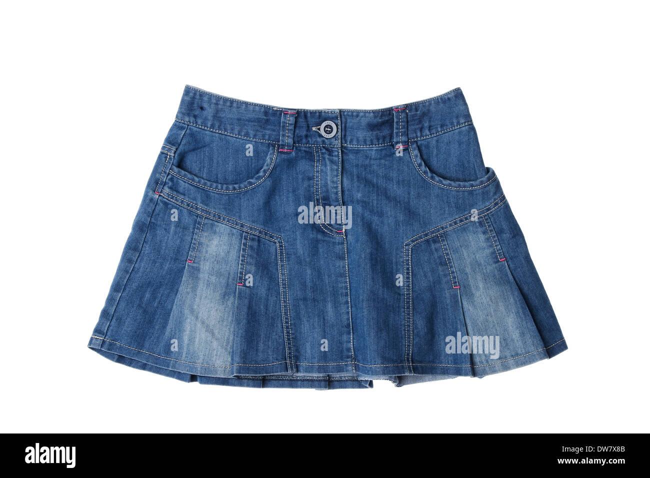 Women's denim skirt - Stock Image