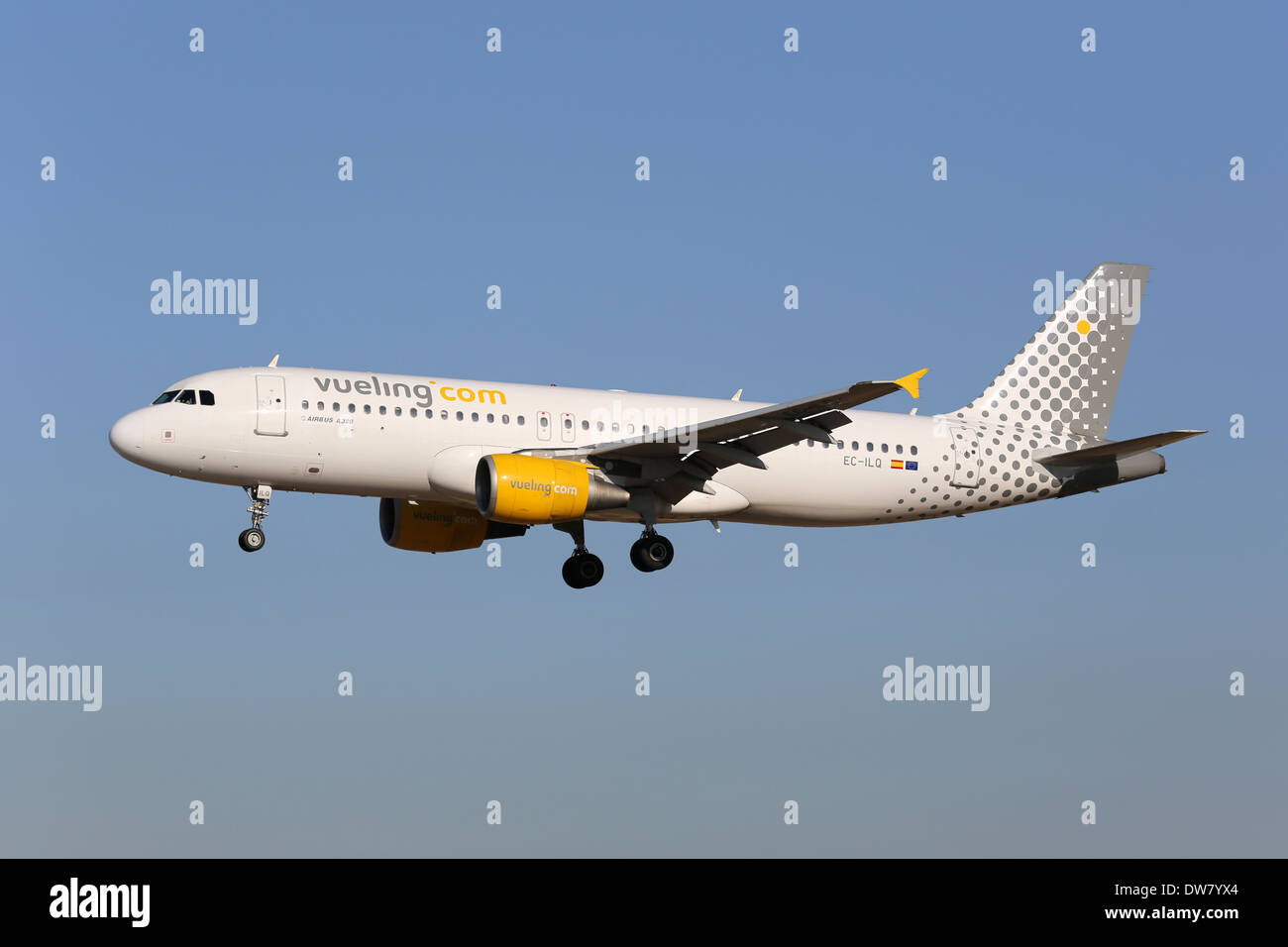 Vueling Airbus A320 with the registration EC-ILQ - Stock Image