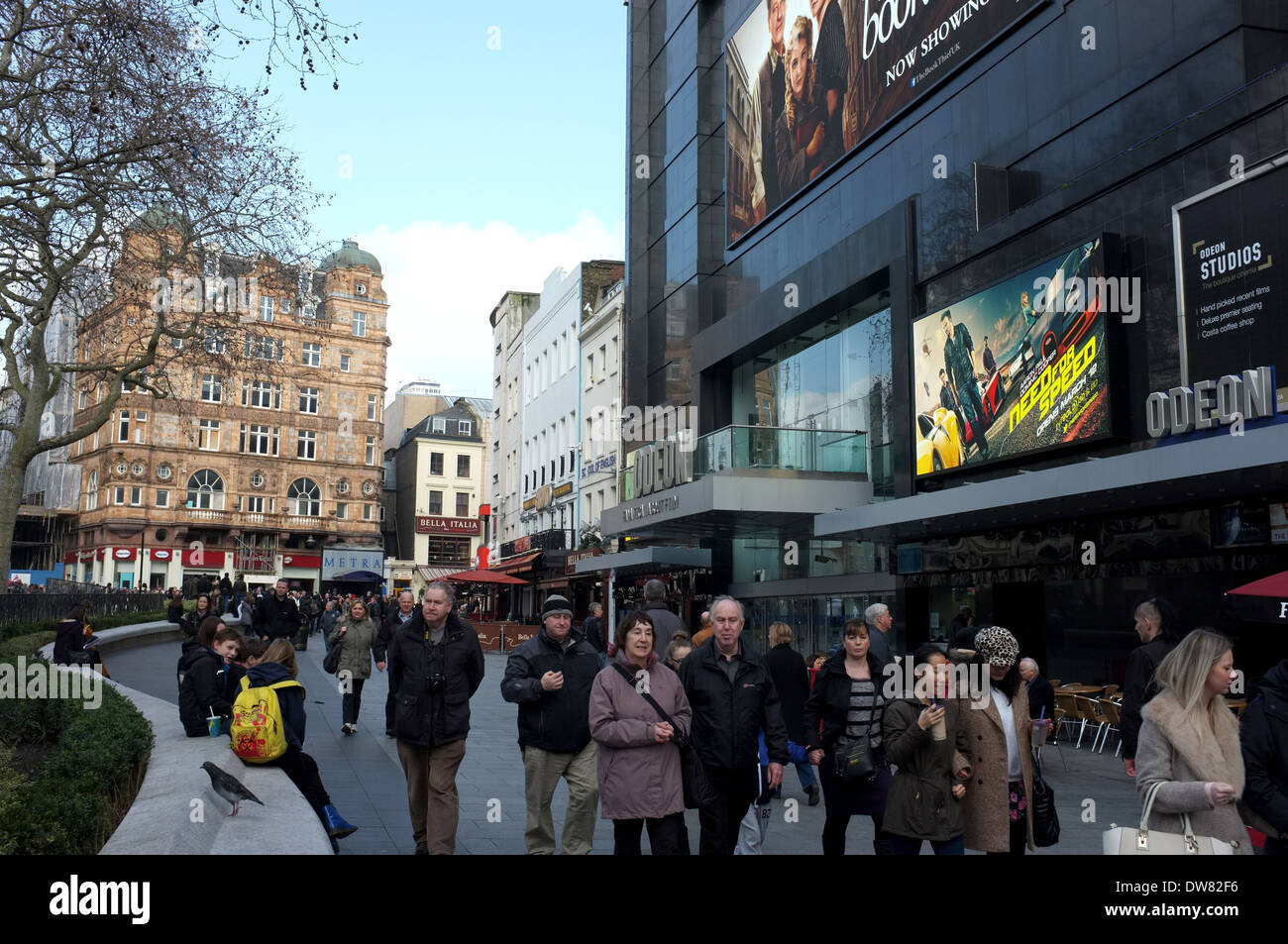leicester square and showing the odeon cinema london wc2 uk 2014 - Stock Image