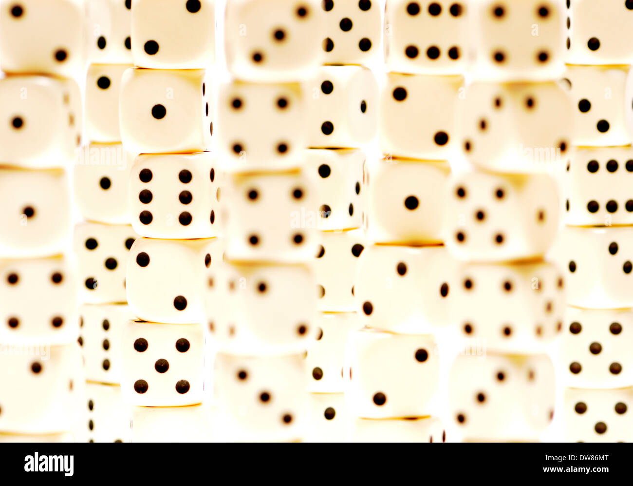 Stacks of dice - Stock Image