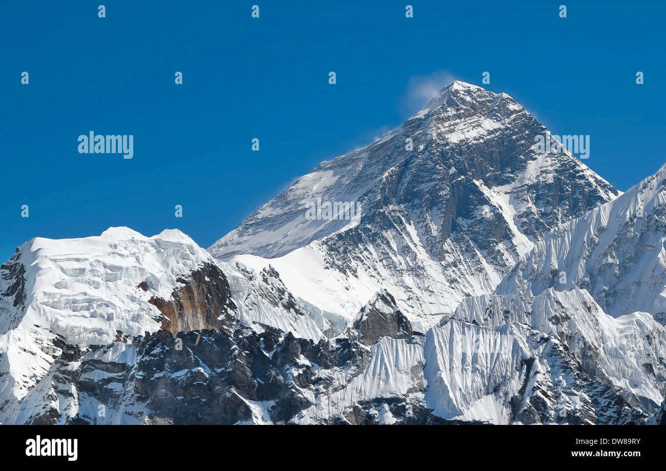 Mount Everest summit. - Stock Image