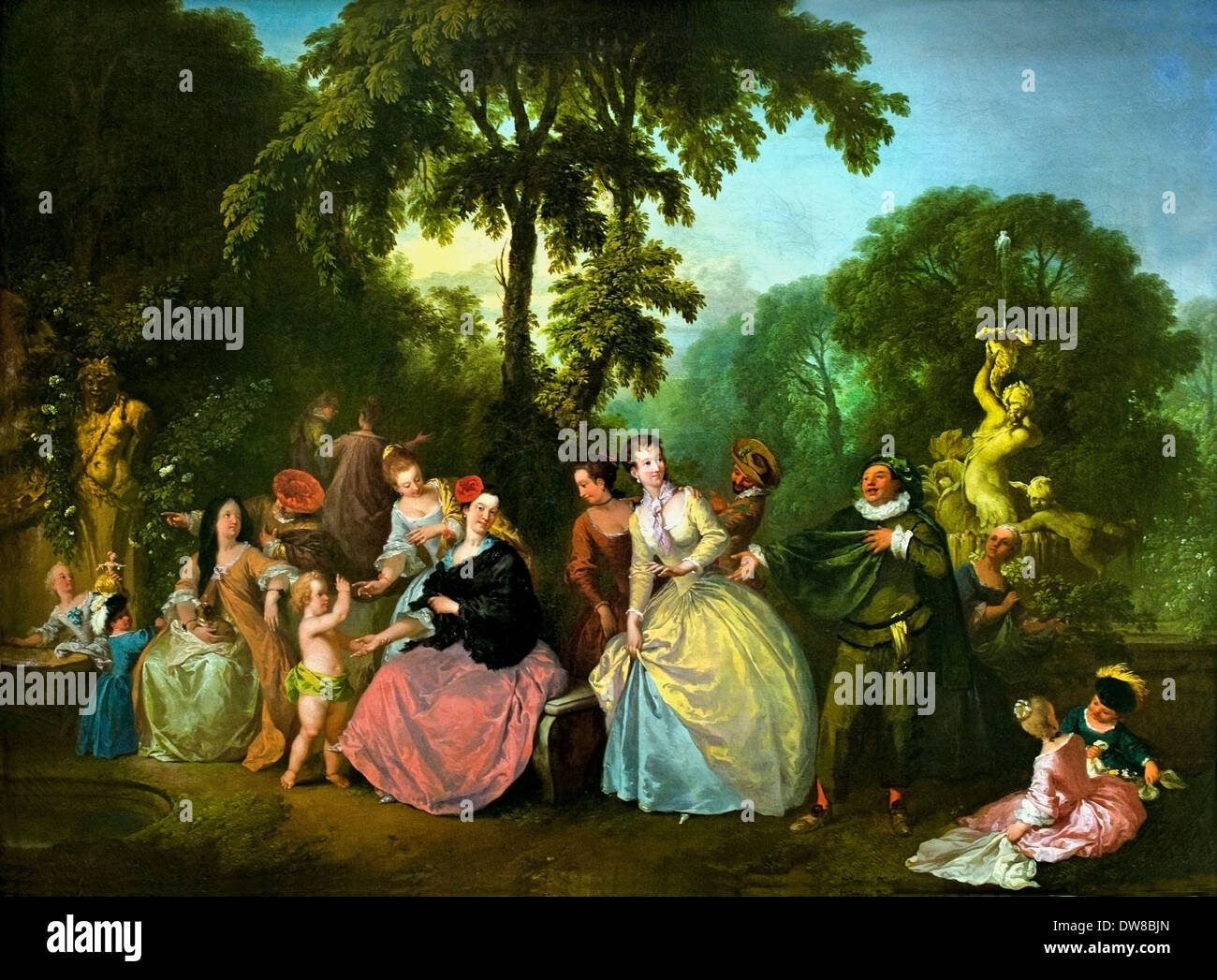 Society in the Park 1750 Christian Wilhelm Ernst Dietrich 1712 - 1774 German Germany - Stock Image