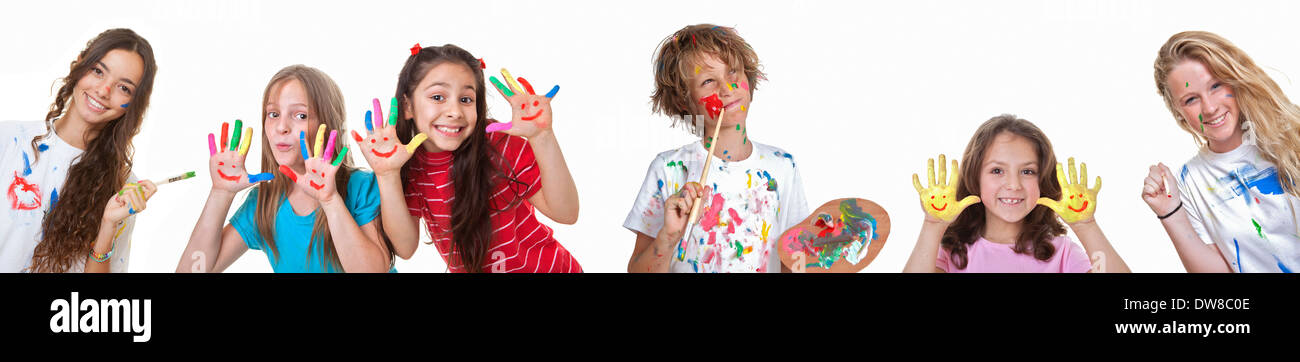 kids art and craft classes or summer school - Stock Image