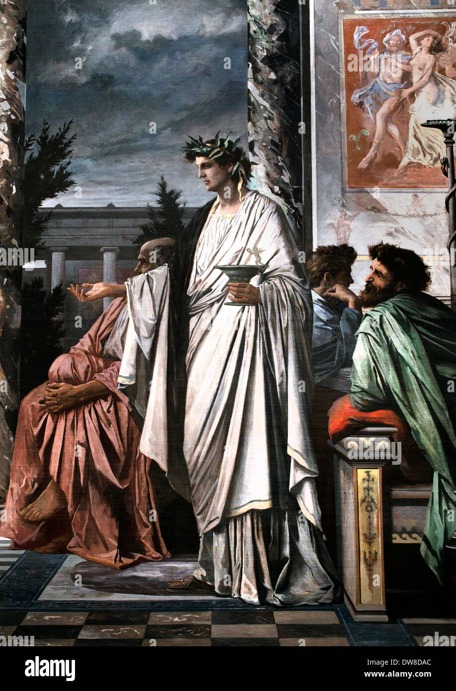 Detail - The Banquet of Plato 1869 Anselm Feuerbach 1829 - 1880 ( Greek philosopher in Classical Greece ) German Germany - Stock Image