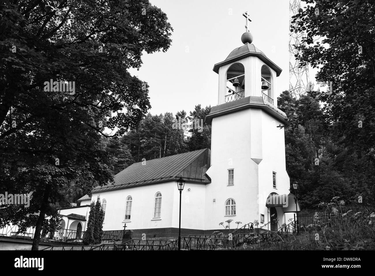 LAHTI, FINLAND - JUNE 10: Holy Trinity Church. The Orthodox Church, (black and white), June 10, 2013 in Lahti, Finland - Stock Image