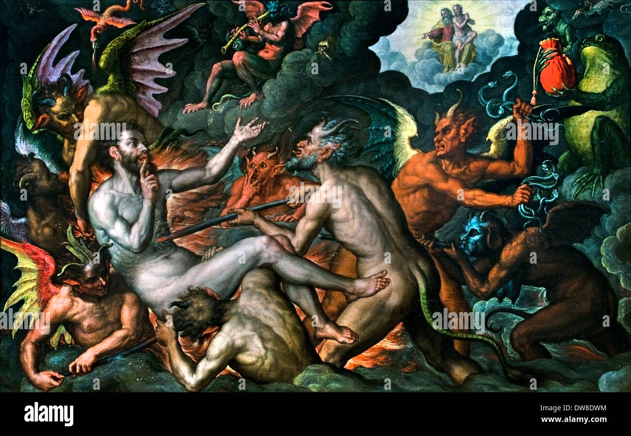 The rich man in hell 1624 Südniederländischer  Meister South Dutch Master Netherlands Flemish Belgian Belgium - Stock Image