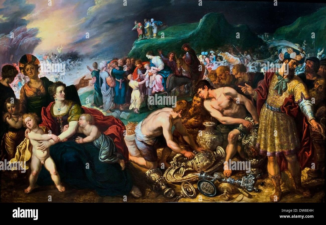 The Israelites after the crossing of the Red Sea in 1620 Pieter van Mol 1599-1650 Flemish Belgian Belgium - Stock Image
