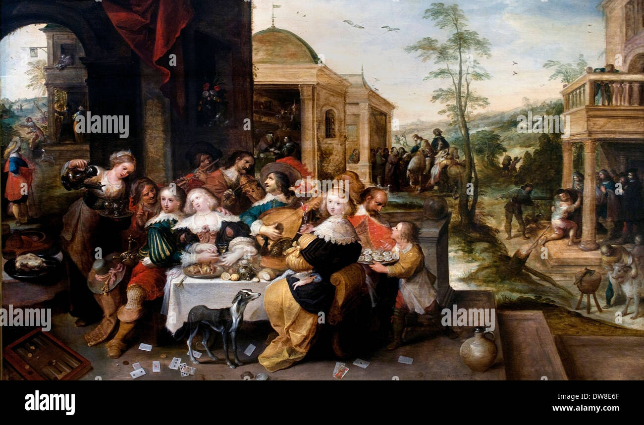 The parable of the prodigal son 1581 Frans Francken 1632 1581 - 1642  Flemish Belgian Belgium