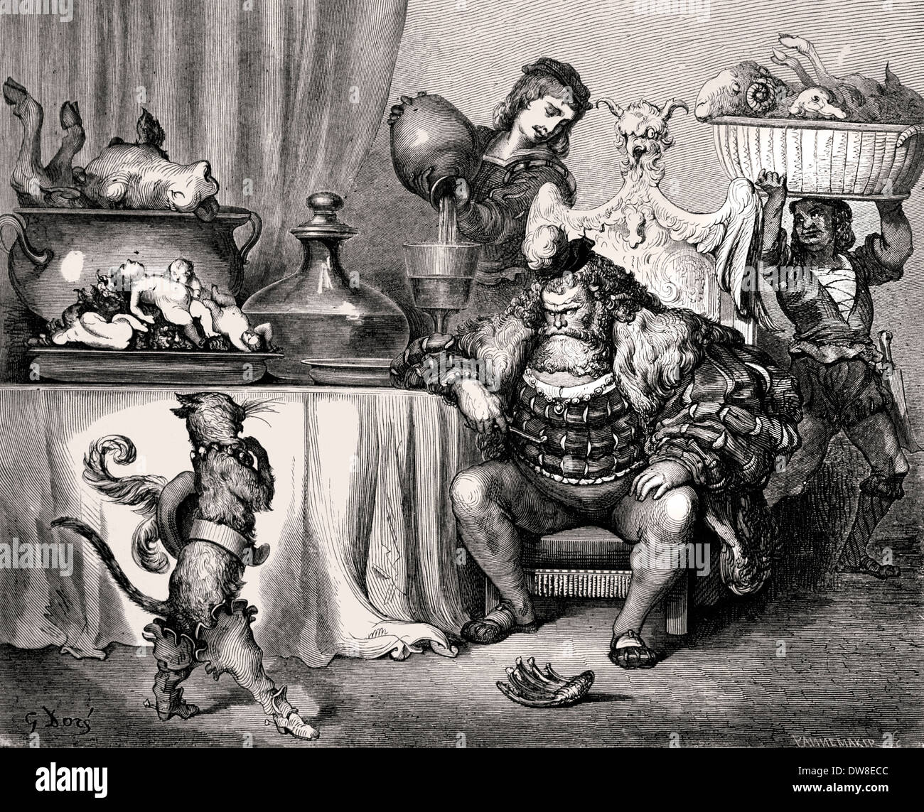 Fables of La Fontaine and Tales of Perrault  ( Jean de La Fontaine 1621 – 1695 - Charles Perrault 1628 –  1703 ) France French - Stock Image