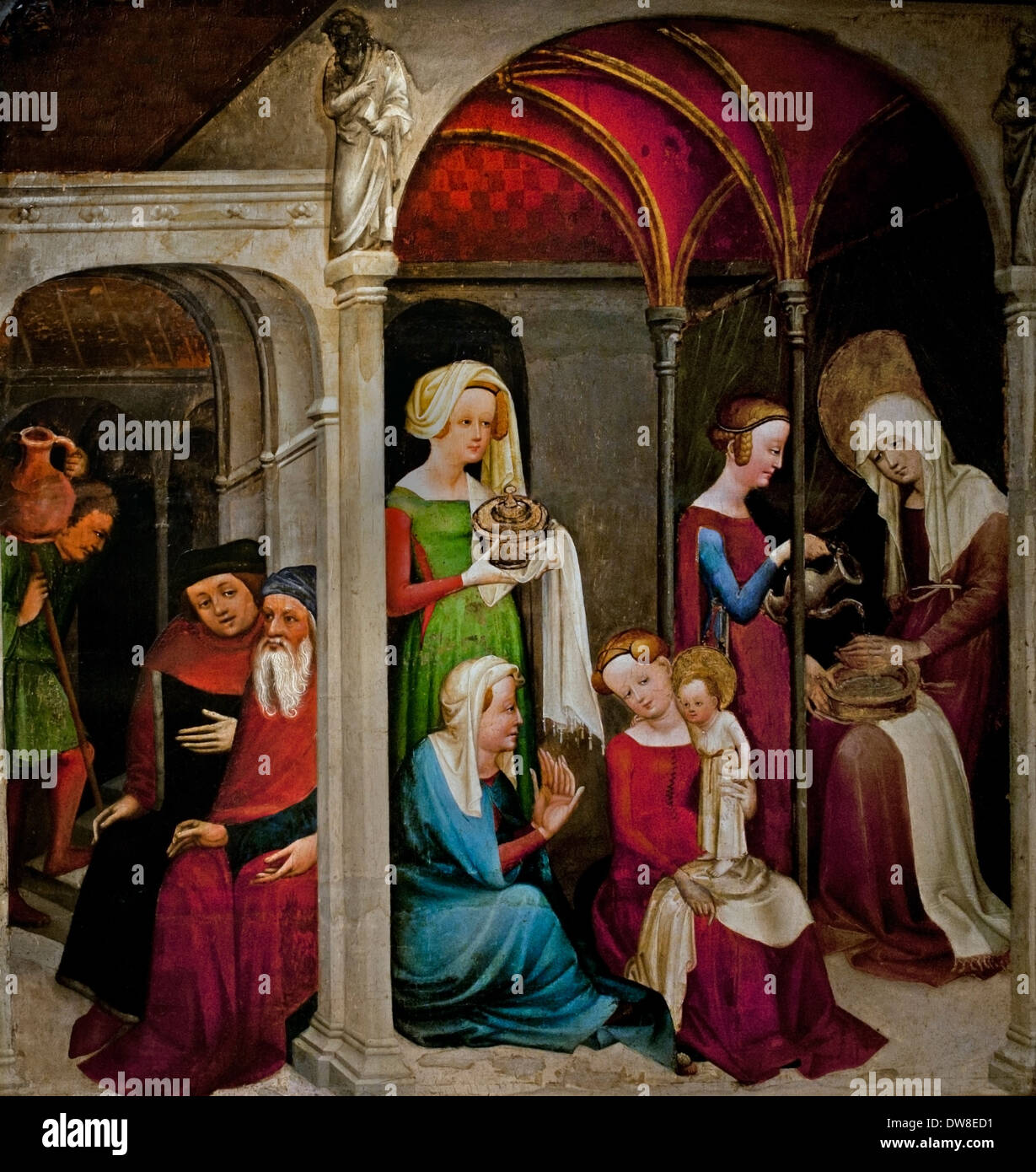 Nativity of of the Virgin 1430 Maitre du Jardin de Paradis - Master ...