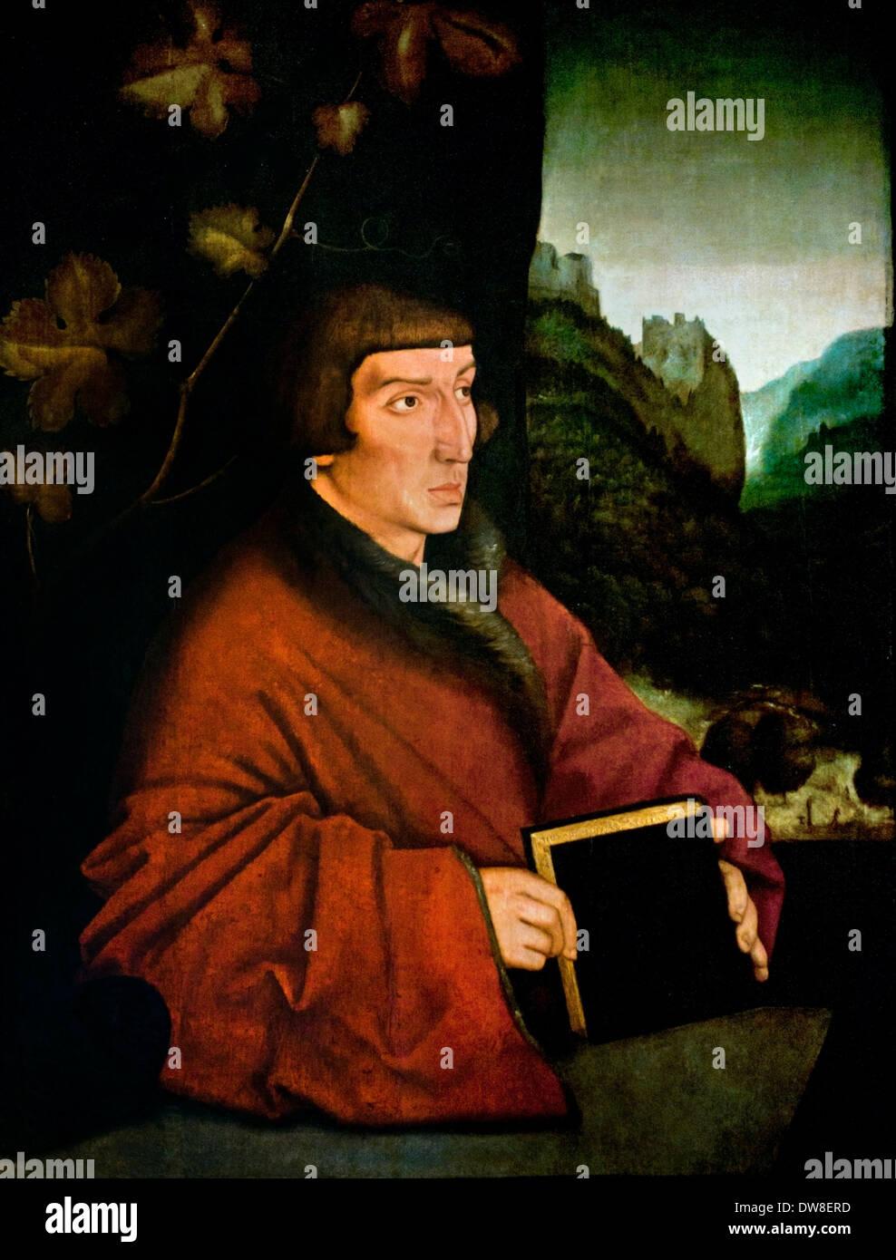 Canon Ambrosius Volmar Keller 1538  by Hans Baldung Grien 1484- 1545 German Germany - Stock Image