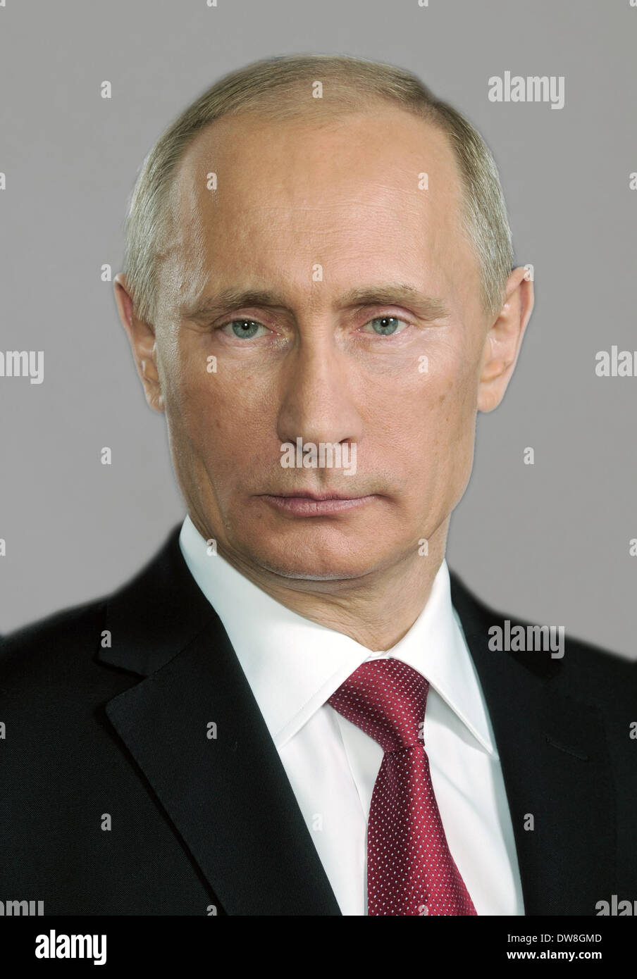 VLADIMIR PUTIN  as President of Russia - Stock Image