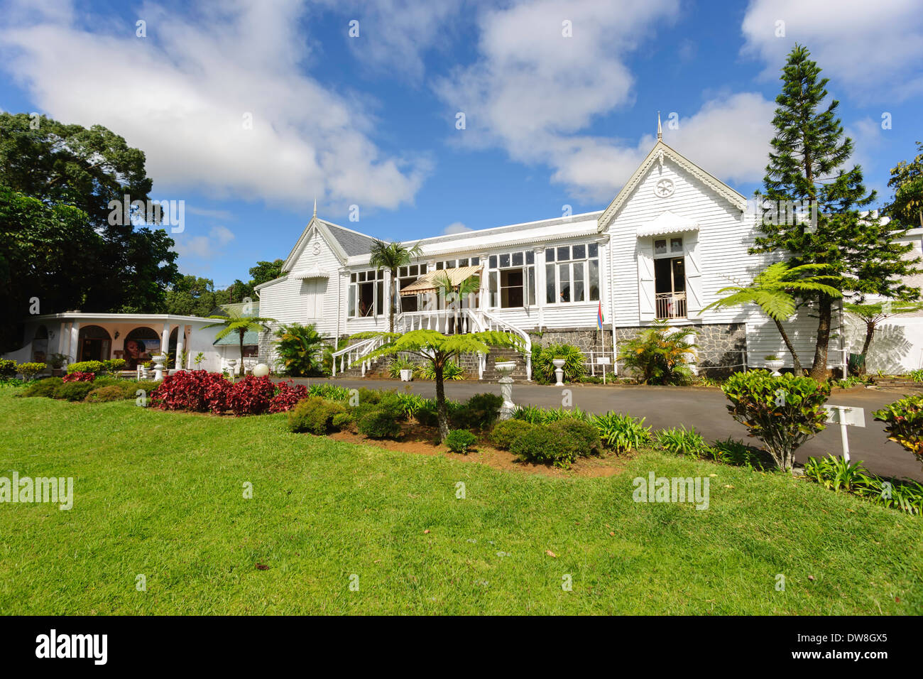 Colonial House near Curepipe Mauritius Stock Photo